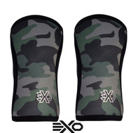 EXO SLEEVES GREEN CAMO - 7MM KNEE SLEEVES Knee Caps Support (PAIR) - www.BattleBoxUk.com