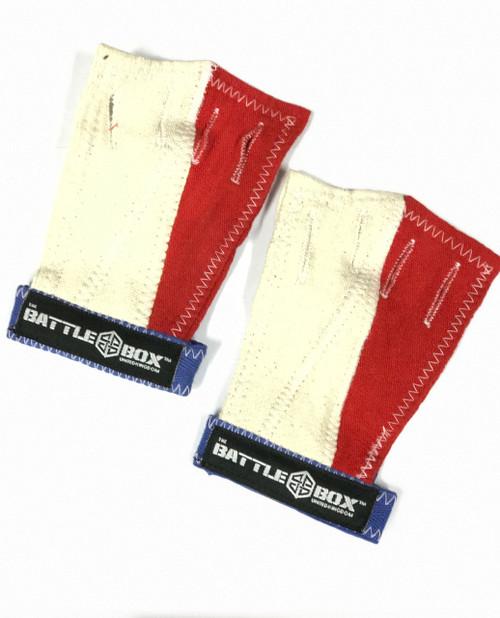 BattleBoxUK WOD Gloves Red White Blue  - www.BattleBoxUk.com