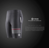 VIRUS MEN'S STAY COOL COMPRESSION V3 TECH SHORTS BLACK (CO23) WWW.BATTLEBOXUK.COM