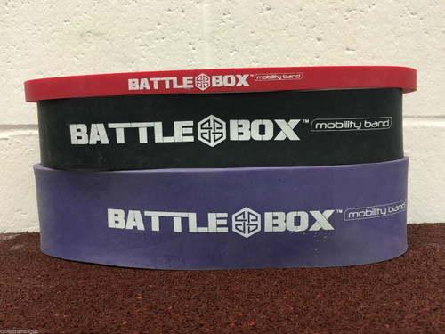 "BattleBox UK™ Mobility Shorty Dead Lift Band 12"" Different Resistance - www.BattleBoxUk.com"