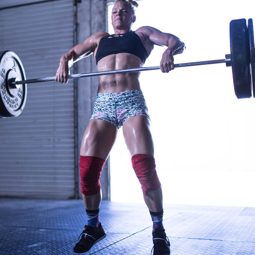 "ExoWraps ""RED"" Black & White Weightlifting Neoprene Knee Wraps www.battleboxuk.com"