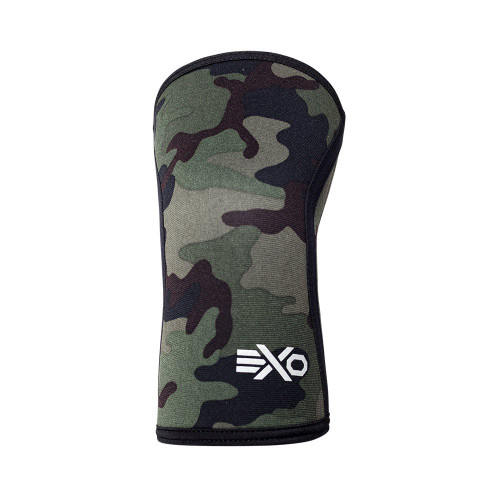 EXO SLEEVES GREEN CAMO - 5MM KNEE SLEEVES Knee Caps Support (PAIR) - www.BattleBoxUk.com