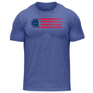 Hylete USA tri-blend crew tee | vintage royal/usa www.battleboxuk.com