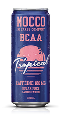 NOCCO Tropical BCAA Drink with Caffeine (Pack of 6,12 or 24 cans)  - www.BattleBoxUK.com