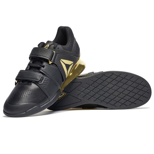Reebok Legacy Weightlifting Lifter Black/Gold (BS5980) www.battleboxuk.com