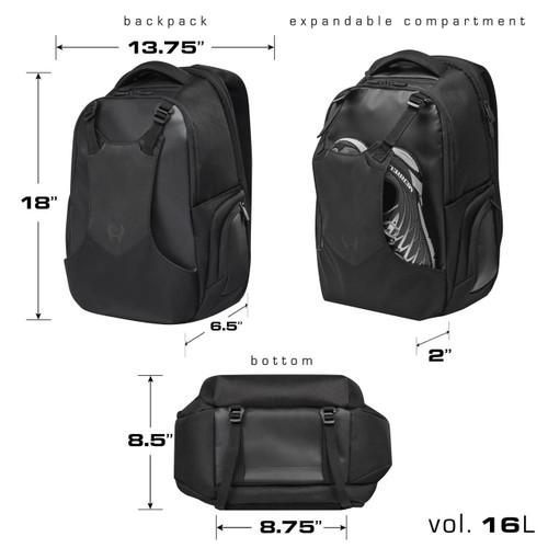 Hylete Iicon Daypack 16L black/stealth black backpack www.battleboxuk.com