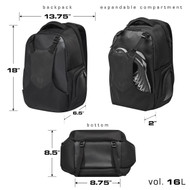 Hylete Iicon Daypack 16L black/stealth black backpack www.battleboxuk.com