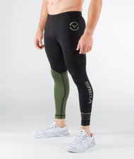 MEN'S STAY COOL COMPRESSION PANTS (RX8)- OLIVE GREEN WWW.BATTLEBOXUK.COM