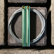 RPM Fitness Speed Training Rope SCOUT Green With Coated Cable  - www.BattleBoxUk.com