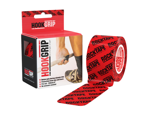 RockTape HookGrip Tape Thumb Protection Weightlifting 5cm x 5m Precut - www.BattleBoxUk.com
