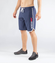 VIRUS MEN'S AIRFLEX TRAINING SHORT (ST1)- NAVY/WHITE www.battleboxuk.com