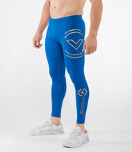VIRUS MEN'S BIOCERAMIC™ COMPRESSION V2 TECH PANTS (AU9) - ELECTRIC BLUE/GOLD WWW.BATTLEBOXUK.COM