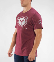 VIRUS + THE KILLER CUB KNIFE PREMIUM TEE (KC11)- HEATHER MAROON