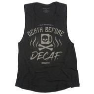 ROKFIT DEATH BEFORE DECAF 2.0 WOMEN'S TANK WWW.BATTLEBOXUK.COM