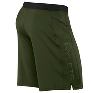 Hylete Vertex II Flex-Knit Zip Pocket Short Olive