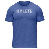 Hylete Vellum Tri-Blend Crew Tee | vintage royal/white