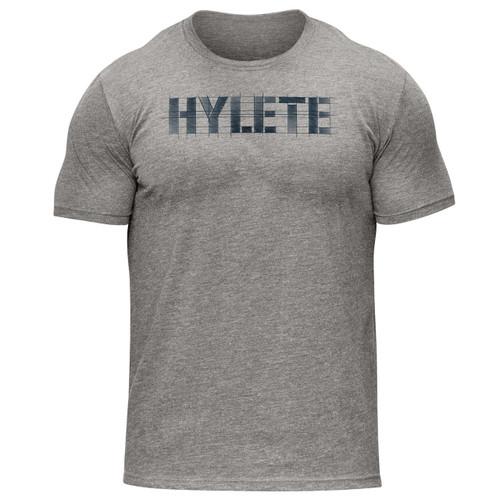Hylete Vellum Tri-Blend Crew Tee | vintage grey/navy