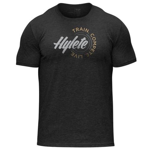 Hylete TCL tri-blend crew tee vintage black/silver