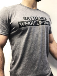 BattleBox UK™ Weightlifting Tee | Heather/Graphite - www.BattleBoxUk.com
