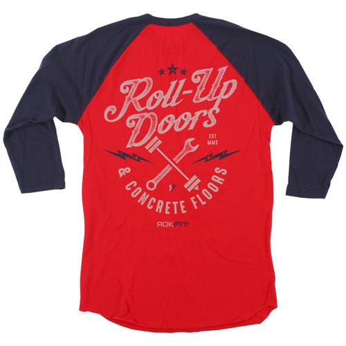 ROKFIT ROLL-UP DOORS & CONCRETE FLOORS T-shirt Long 3/4 sleeve - www.BattleBoxUk.com