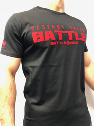 "BattleBox UK™ ""DESTROY EVERY BATTLE"" BLACK & RED T-SHIRT"