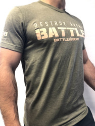 "BattleBox UK™ ""DESTROY EVERY BATTLE"" HUNTER T-SHIRT  WWW.BATTLEBOXUK.COM"