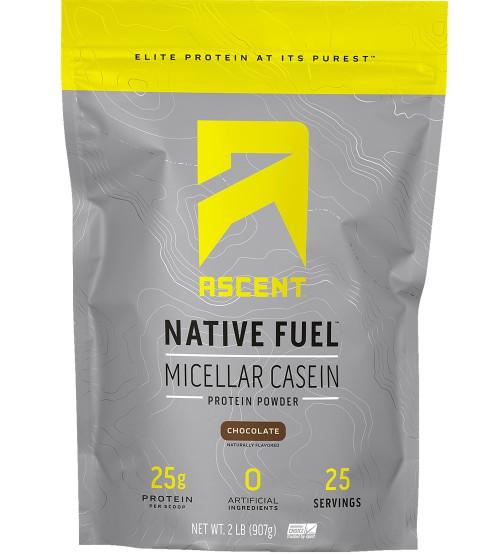 Ascent Native Fuel Micellar Casein Protein Powder 2lbs / 908g www.battleboxuk.com