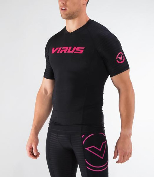 VIRUS | KCVP | KILLER CUB COMPRESSION VP SHORT SLEEVE-BLACK/MAROON (KC142118 BLK M KCVP) - www. BattleBoxUk.com