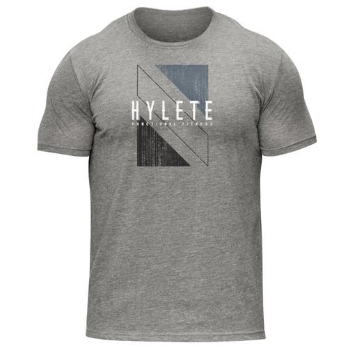 Hylete | Shift Tri-Blend Crew Tee | Heather Gray/Black www.battleboxuk.com