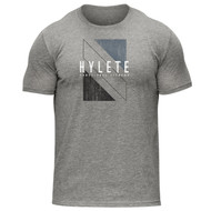 Hylete | Shift Tri-Blend Crew Tee | Heather Gray/Black www.battleboxuk.com