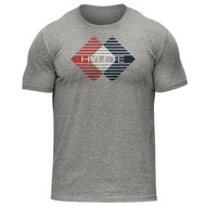 Hylete | Fusion Tri-Blend Crew Tee | Heather Gray/Brick www.battleboxuk.com
