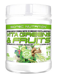 SCITEC NUTRITION ORGANIC VITA GREENS & FRUITS WITH STEVIA 360G APPLE