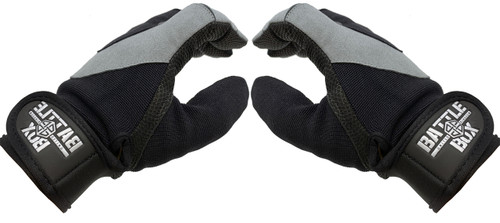 BattleBox UK™ Gloves | WOD Edition 2.0 Stone Grey Black - www.BattleBoxUk.com
