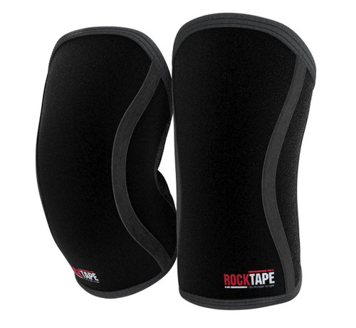 RockTAPE Assassins ® Black Knee Sleeves - Knee Support & Protection Caps 5mm or 7mm - www.BattleBoxUk.com