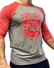 CrossFit Skirmish 3/4 Unisex Training Top Red & Grey  - www.battleboxuk.com