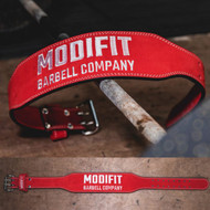 ModiFit  | Weight Lifting Belt | Red Olympic Weightlifting Style