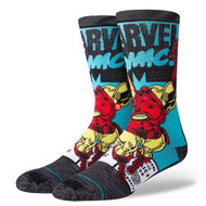 STANCE | MARVEL | IRON MAN COMIC (M546D18IRO)  - www.BattleBoxUk.com