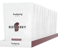 FOODSPRING BEEF JERKY 6-12 PORTION PACK WWW.BATTLEBOXUK.COM