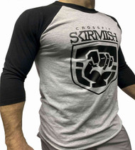 CrossFit Skirmish 3/4 Unisex Training Top T-shirt Black & Stone - www.BattleBoxUk.com
