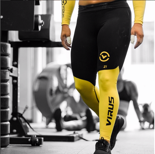 VIRUS | ECO21.5 | STAY COOL V2 COMPRESSION PANT | BLACK LEMON