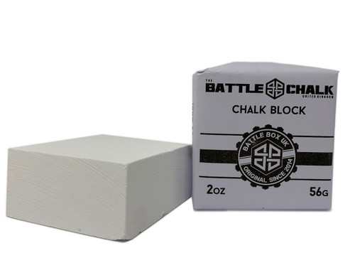 BATTLECHALK™ | Chalk Block| 56G | For Rock Climbing Gymnastics Gym WeightLifting - www.BattleBoxUk.com
