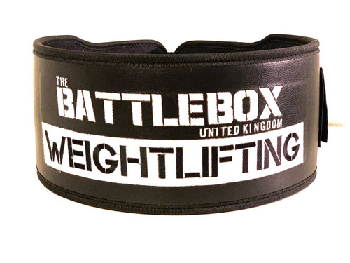 "BattleBox UK™ | Weightlifting Nylon Leather 5"" Belt 