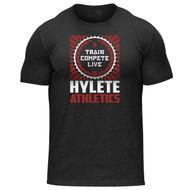 Hylete | Propaganda | Tri-blend crew tee | vintage black/brick www.battleboxuk.com