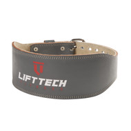 LIFT TECH | 4″ PADDED WEIGHTLIFTING LEATHER BELT | GREY WWW.BATTLEBOXUK.COM