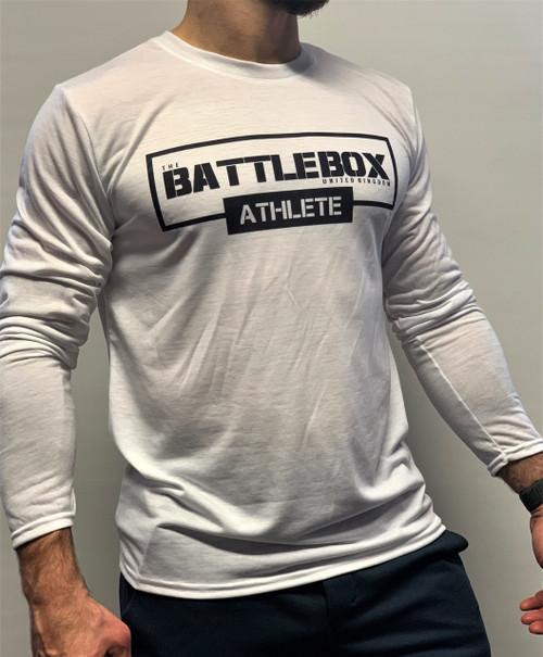 BattleBox UK™ | ATHLETE | Long Sleeve T-shirt White Edition | Black & White  - www.BattleBoxUk.com