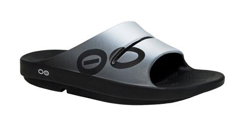 OOFOS MEN'S OOAHH SPORT Smoke Recovery Footwear Slide In Flip Flop Sandal - www.BattleBoxUk.com
