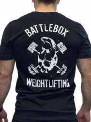 BattleBox UK™ | WEIGHTLIFTING| T-shirt | SKULL Black & White - www.BattleBoxUk.com