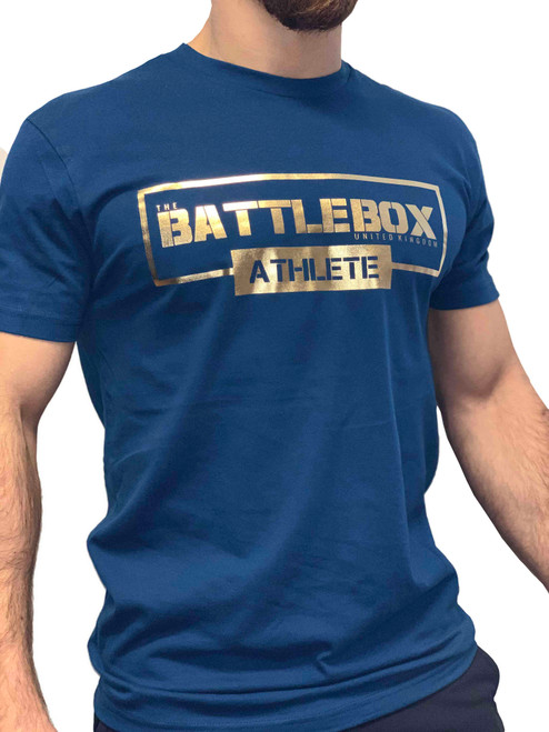 BattleBox UK™ | ATHLETE | Short Sleeve T-shirt| Cool Blue & Gold - www.BattleBoxUk.com