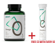 SUMMER DEAL - Puori O3 Ultra Pure Fish Oil Omega 3 with FREE Puori C3 Vitamin C - www.BattleBoxUK.com