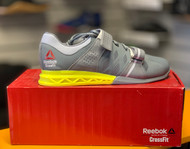 MEN CROSSFIT REEBOK | LIFTER Plus 2.0 SHOE | Dust Grey Yellow V72385  - www.BattleBoxUk.com